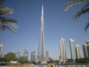 Skyline of Dubai with the Burj Khalifa Dominating
