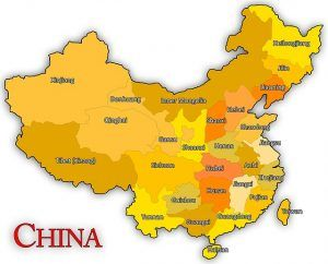 doing business in china map