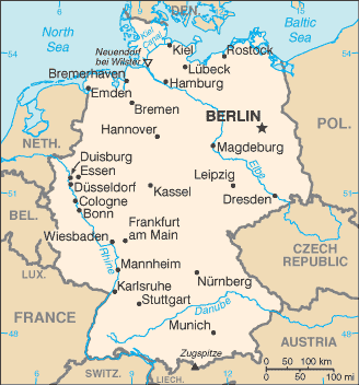 Doing business in Germany Map