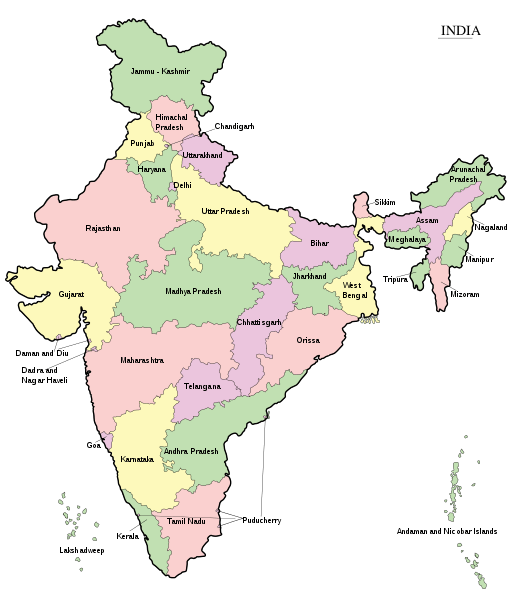 doing business with india map